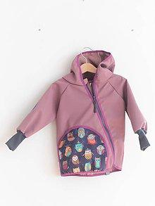 "Detské oblečenie - Softshellka ""happy owls"" - 11216924_"