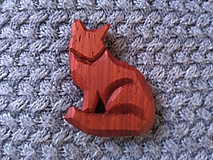 Odznaky/Brošne - Drevená brošňa líška - 11217656_