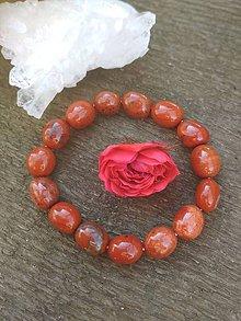 Náramky - Náramok z červeného jaspisu - 11218351_