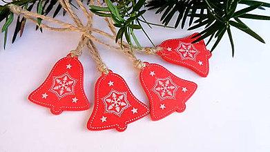 Dekorácie - Vianočné ozdoby - červený zvonček - 11218117_