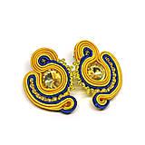 Náušnice - SCARLETT - farebné napichovacie náušnice - 11218564_