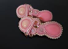 Náušnice - Nežné ružové - 11218895_