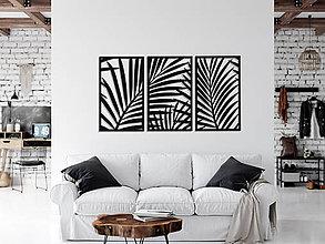 Obrazy - Dekoratívny prelamovaný panel triptych, PALMY, TROPICAL GARDEN,MONSTERA, 80 x 140 cm - 11219006_
