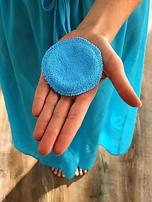 Úžitkový textil - Odličovací tampón modrý - 11218092_