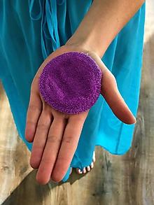 Úžitkový textil - Odličovací tampón fialový - 11218099_