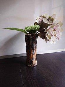 Dekorácie - Váza dreveného vzhľadu - 11216810_
