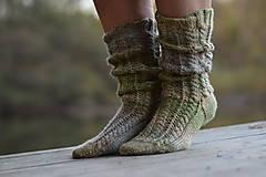 Obuv - vysoké ponožky v zemitých tónoch (v.39-40) - 11218385_