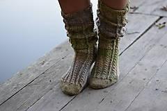 Obuv - vysoké ponožky v zemitých tónoch (v.39-40) - 11218390_