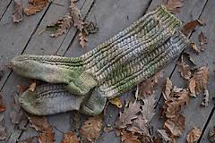 Obuv - vysoké ponožky v zemitých tónoch (v.39-40) - 11218399_