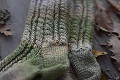 Obuv - vysoké ponožky v zemitých tónoch (v.39-40) - 11218415_