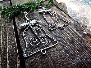 Dekorácie - zvonček strieborný II - 11217205_