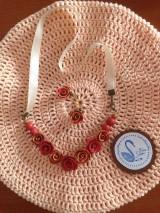 Sady šperkov - Červeno-zlatý set ruží - 11218130_