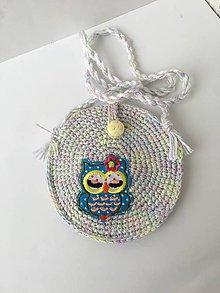 Detské tašky - Háčkovaná kabelka pre malé slečny zľava z 12 eur. - 11217450_