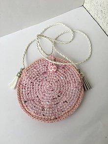 Detské tašky - Háčkovaná kabelka pre malé slečny zľava z 12 eur. - 11217463_