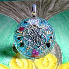 Náhrdelníky - Květ Života (2) Rubín s Turmalíny, Opál * orgonit - 11219572_