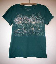 """Tričká - Dámske tričko""""Večerná búrka"""" - 11221343_"""