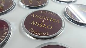 Darčeky pre svadobčanov - Svadobné magnetky - 11219342_