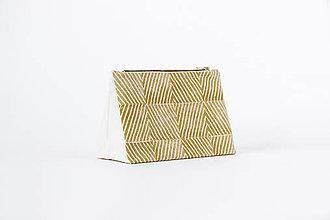 Taštičky - Taštička /// žlutá geometrická - 11222740_