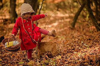 Detské oblečenie - Detský ľanový kabátik (Červená) - 11222201_
