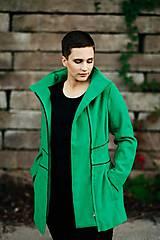 Kabáty - Zelený vlnený kabát - 11222489_