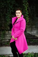 Kabáty - Cyklámenový vlnený kabát - 11222560_