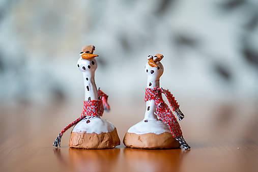Usmej sa na mňa: Keramický zvonček snehuliak