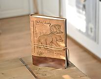 Papiernictvo - kožený zápisník URSUS ARCTOS - 11221807_