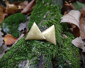 Náušnice - Trojuholníky 20 mm (béžové) - 11221295_