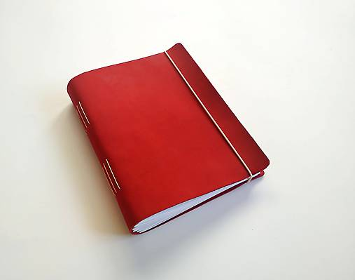 Zápisník kožený A5 nubuk vínovočervená
