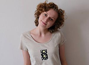 Tričká - ;semikolon; kolekcia // ručne maľované tričko s krátkym rukávom !posledné kusy! - 11220019_
