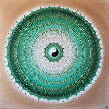 Obrazy - Mandala NÁDEJ (gold) 70 x 70 (80 x 80 cm) - 11222069_