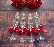 Nádoby - Svadobný pohár pre rodiča- bordová - 11221832_
