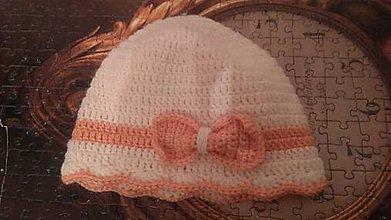 Detské čiapky - Háčkovaná čiapka - 11221830_