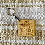 Kľúčenky - Think outside - prívesok - 11221357_