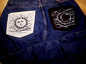 Nohavice - Maľované jeansy - 11222401_