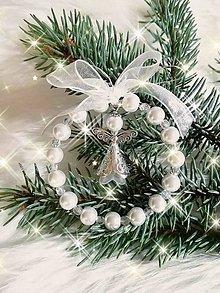 Dekorácie - Vianočné ozdoby (Biela) - 11219292_