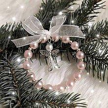 Dekorácie - Vianočné ozdoby (Ružová) - 11219296_