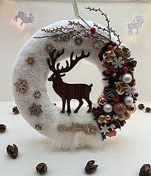 Dekorácie - Vianočný veniec na dvere - 11222541_