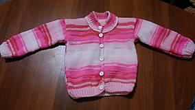 Detské oblečenie - Svetr pletený dívčí - 11220521_