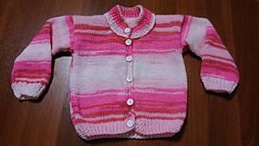 Detské oblečenie - Svetr pletený dívčí - 11220523_