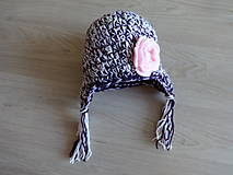 Detské čiapky - Dětská čepička dívčí - 11220574_