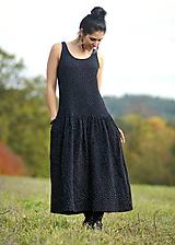 Šaty - Maxi mušelínové černé - 11220116_