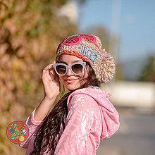 Čiapky - Origo čiapka kvet štrikovanec - 11221279_