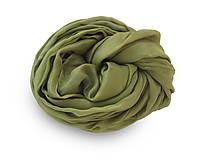"""Šály - """"olive green""""  hodvábny šál skladom:-))  - 11221360_"""