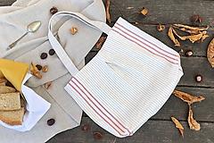 Nákupné tašky - Nákupná taška z ľanového plátna - 11222064_