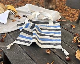 Nákupné tašky - Ľanová nákupná taška - 11221940_