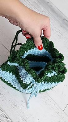 Detské tašky - dievčenská háčkovaná kabelka 2 ks - 11220527_