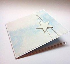 Papiernictvo - Pohľadnica ... vianočná hviezdička V - 11225639_
