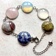 Náramky - Gemstones Stainless Steel Bracelet / Náramok s minerálmi (chirurgická oceľ) - 11224008_