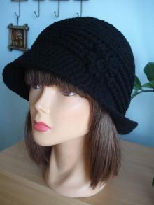 Čiapky - štýlový čiapko-klobučik - 11224386_